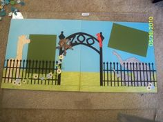 2 page scrapbook layout with cricut cuts
