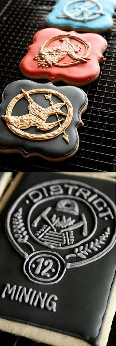 The Hunger Games Cookies!.... Totally making these when my friends and I have ours this summer!!