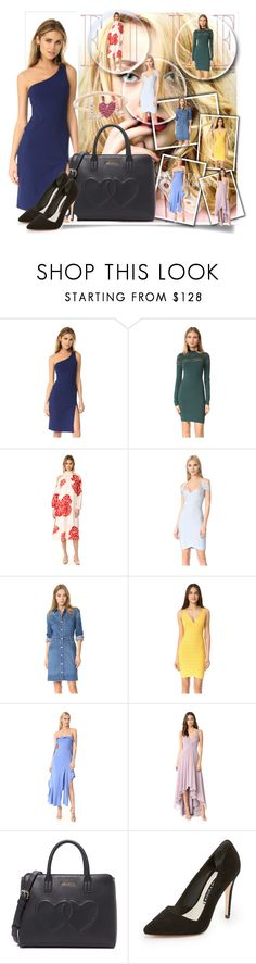 """Make Your Mark!!"" by stylediva20 on Polyvore featuring Susana Monaco, TIBI, Hervé Léger, STELLA McCARTNEY, Jonathan Simkhai, Monique Lhuillier, Moschino, Alice + Olivia and Sydney Evan"