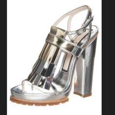 No.21 Silver Platform Sandals