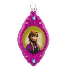 Disney Frozen Anna Christmas Ornament ($7.60) ❤ liked on Polyvore featuring home, home decor, holiday decorations, multicolor, disney home decor, disney christmas ornaments, disney holiday decorations, disney and colorful home decor