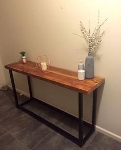 Recycled Oregon industrial hall console / table $250 made by recycledtimberfurnitureoz.com