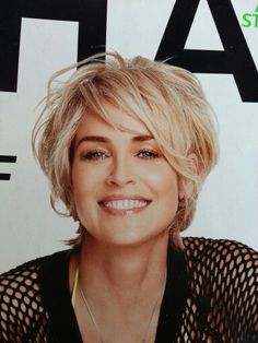 Short hair style cut layered shaggy shag