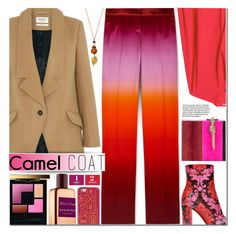 """""""Wear a Camel Coat!"""" by anna-anica ❤ liked on Polyvore featuring Parka London, Atelier Cologne, Yves Saint Laurent, Pantone, Agnona and Tory Burch"""