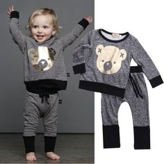 Unisex Winter Toddler Baby Boy Clothes Long Sleeve Cartoon Cute BEAR Printed T-Shirt + Pant Outfit Set Age 0-4♦️ SMS - F A S H I O N 💢👉🏿 http://www.sms.hr/products/unisex-winter-toddler-baby-boy-clothes-long-sleeve-cartoon-cute-bear-printed-t-shirt-pant-outfit-set-age-0-4/ US $7.33