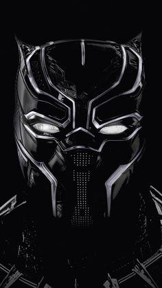 Black panther, black mask, artwork, 720x1280 wallpaper