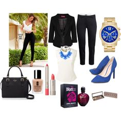 Office by dzenitab on Polyvore featuring polyvore, fashion, style, Bouchra Jarrar, Boohoo, Venus, H&M, Nine West, Kate Spade, Ilia, Clinique, Urban Decay and Paco Rabanne