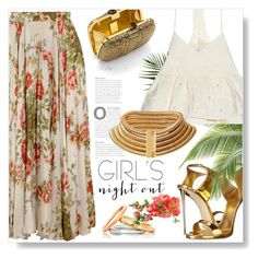 Girlie Florals... by desert-belle on Polyvore featuring polyvore, fashion, style, TIBI, Gucci, Giuseppe Zanotti, Aspinal of London, Astley Clarke, clothing, girlsnightout and polyvoreeditorial