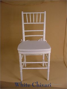 Faux bamboo chairs for reception tables.