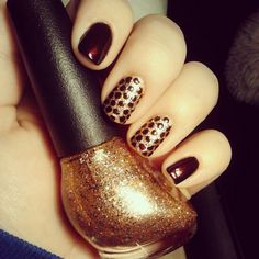 60 Fall Inspired Nail Designs: Leaves Owls Pumpkins + More photo Callina Marie's photos - Buzznet