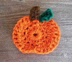 Crochet Flowers crochet pumpkin applique pattern - Hundreds of free crochet patterns from baby blankets, apparel, home decoration, flowers and more. Be inspired and get ready to crochet something amazing! Crochet Pumpkin Pattern, Crochet Applique Patterns Free, Pumpkin Applique, Crochet Flower Patterns, Crochet Motif, Crochet Flowers, Crochet Appliques, Crochet Birds, Crochet Bear