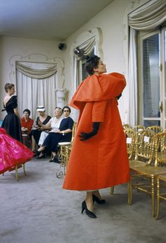 1stdibs | Mark Shaw - Orange Coat-Salon of Balenciaga #1