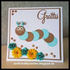 Randis hobbyverden: Bursdagskort med larve