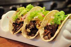 Day 18: Pulled Portobello Tacos   #veganpopup #vegan #food #dinner #tacos #mushrooms #bbq