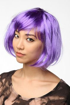 Go incognito with a funky bob-style #wig .. #halloween #costume #urbanoutfitters
