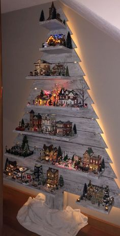 Awesome DIY Christmas Decorations on a Budget - Christmas Village Display #christmasdecorations #holidaycrafts