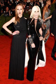 mum and daughter versace