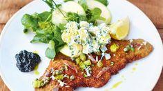 Goldbraun, zart und saftig - so muss ein Schnitzel sein. Jamie Oliver verrät wie es einfach perfekt wird!