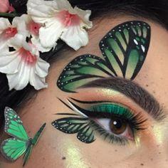 ριи Souls ✔ Darlingdarla Paris XoXos - Makeup Looks Dramatic Makeup Eye Looks, Eye Makeup Art, Crazy Makeup, Cute Makeup, Glam Makeup, Awesome Makeup, Eye Art, Awesome Art, Butterfly Makeup