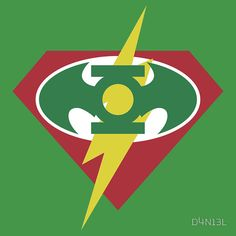 Superman/Batman/Flash/Green Lantern logo #mashup