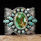 GUY HOSKIE Navajo GEM NATURAL ROYSTON Turquoise Bracelet Sterling Silver