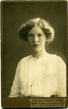 Portrait of a young woman, Sweden,  c.1915