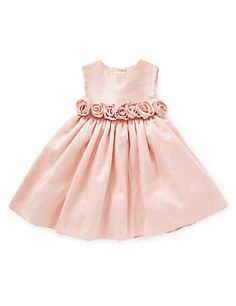 Blush Pink Pure Silk Rosebud Christening Occasion Dress