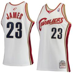 LeBron James Cleveland Cavaliers Mitchell   Ness Hardwood Classics Rookie  Authentic Jersey - White cfb0ac0fb