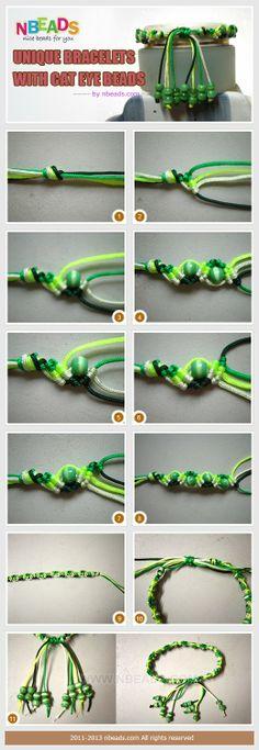DIY: Unique Bracelets with Cat Eye Beads