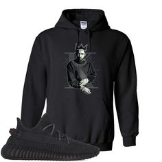 Yeezy Boost 350 Black Hoodie Yeezy Boost 350 Black, Kendrick Lamar, Hoodies, Sweatshirts, Black Hoodie, Trending Outfits, Stylish, Crowd, Pouch