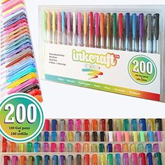 Artlicious - ULTIMATE 100 Unique Gel Pens Set - No Duplicates - 60% More Ink Than Other Brands - Non Toxic & Acid Free - Ideal for Coloring Books