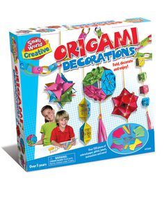 Equal parts fun and educational, this high quality origami set will bring hanging decorations to any room in need of a quick design flourish! Featuring a variety of embellishments and illustrated instructions, this kit brings crafty fun to any rainy afternoon!