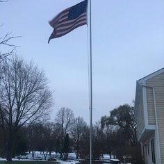 Build Your Own Flagpole: 4 Steps Flag Pole Landscaping, Outdoor Landscaping, Landscaping Ideas, Make Your Own Flag, Build Your Own, House Flag Pole, House Flags, Outdoor Crafts, Outdoor Stuff
