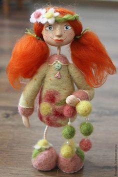 Art doll / Человечки ручной работы. Ярмарка Мастеров - ручная работа. Купить Зоряна. Handmade. Рыжий, рыжая девочка, рыжая кукла, феечка