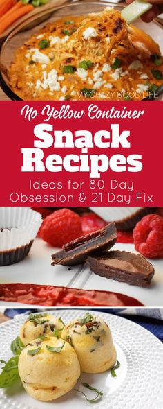 These healthy snack ideas are perfect for the 21 Day Fix and 80 Day Obsession! The best way to be prepared for your nutrition is to have these snacks prepped for when you get hungry! These are no yellow snack recipes for 80 Day Obsession and 21 Day Fix! #