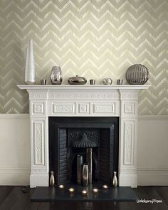 A palette of: and Neutrals! Let LUXURY your walls with Edition Goodrich Victorian Fireplace, Dining Room Inspiration, Fireplace Mantels, Fireplaces, Interior Photography, New Homes, Lounge, Luxury, Design