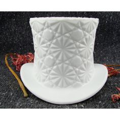 Fenton Daisy & Button Milk Glass Top Hat - Bud Vase - Home Decor - Vintage Collectible
