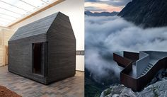 """New Nordic "" Images from the exhibition showcasing Nordic design (my people)  Left: photo L.Hirvilammi / Architects Louisiana Pavilion - Right: photo diephotodesigner.R.Ramstad Architects/National Tourist Route/Norway."