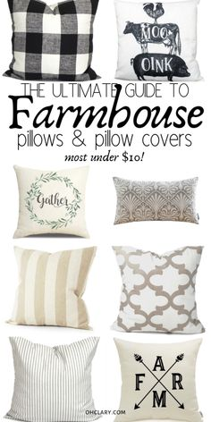 83 Farmhouse Pillow Covers