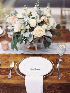 Featured Photographer: Bethany Erin Photography; wedding centerpiece idea
