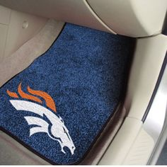 If you want to take your team spirit on the road, there are plenty of ways you can achieve that goal.  Floor mats not only protect the interior of your car, they can show off your team spirit!  #denverbroncos  #autosupplies  #carmats