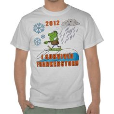 I Survived Frankenstorm Tee Shirts