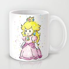 Princess Peach Mug by Olechka - $15.00