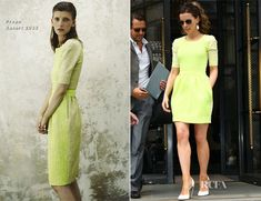Even #lime #green! An entire outfit! I'm so glad I saved the #clothes I wore twenty years ago!  (Kate Beckinsale In Preen - Corinthia Hotel)