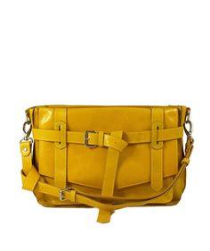 Influxx KAY Classic Yellow Leather Satchel bag | Influxx Knots About You Collection | ShopInfluxx.com