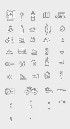 Free PSD Goodies and Mockups for Designers: FREE GREAT OUTDOOR LINE ICONS