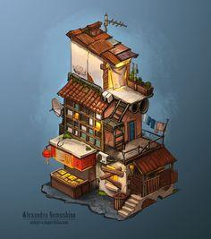 Buildings on Behance