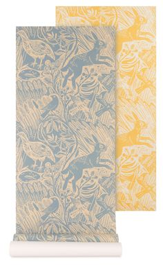 'Harvest Hare' wallpaper by Mark Hearld for St. Jude's.
