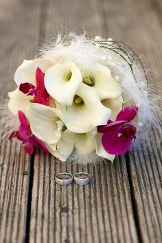 Brautstrauß mit Callas