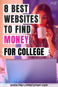 8 Best College Scholarship Websites To Find Money For College. Paying for college is hard, find the best college resources to make it easier College Books, College Fun, Education College, Easy Scholarships, Scholarships For College Students, Textbook Rental, Websites For Students, Online Tutoring